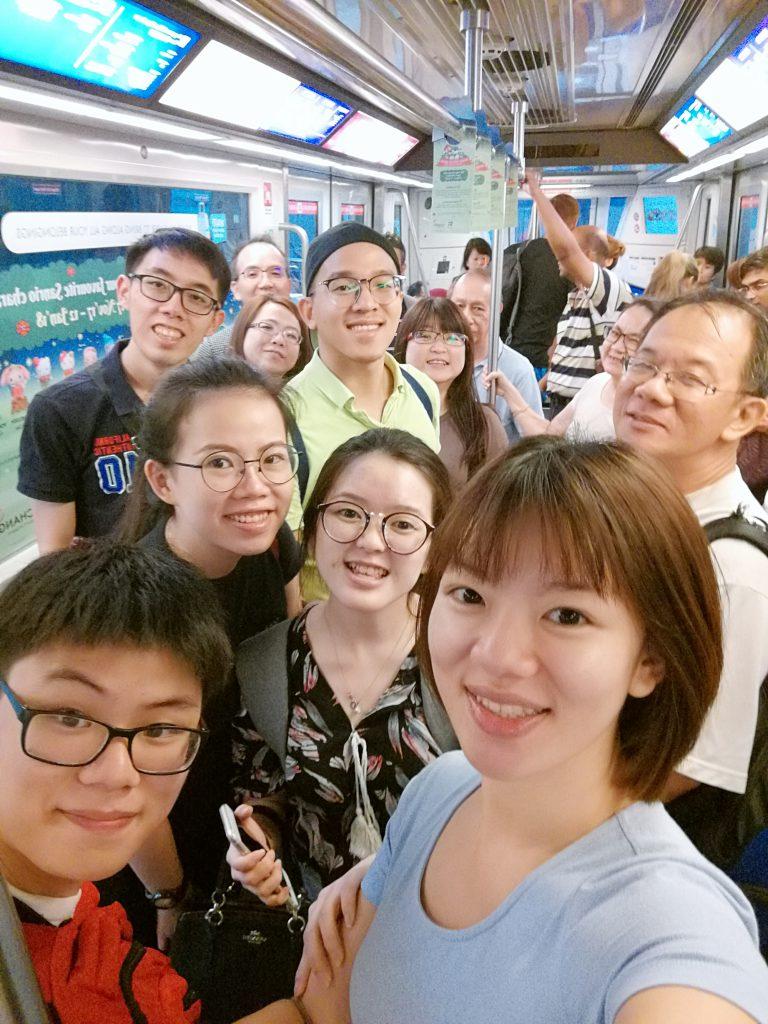 Lee Family in train
