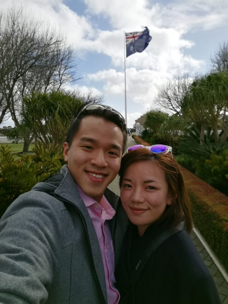 Pose with Aussie Flag