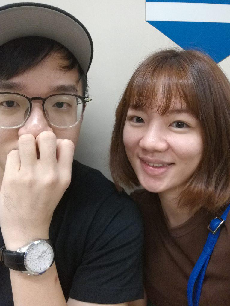 Selfie in MRT