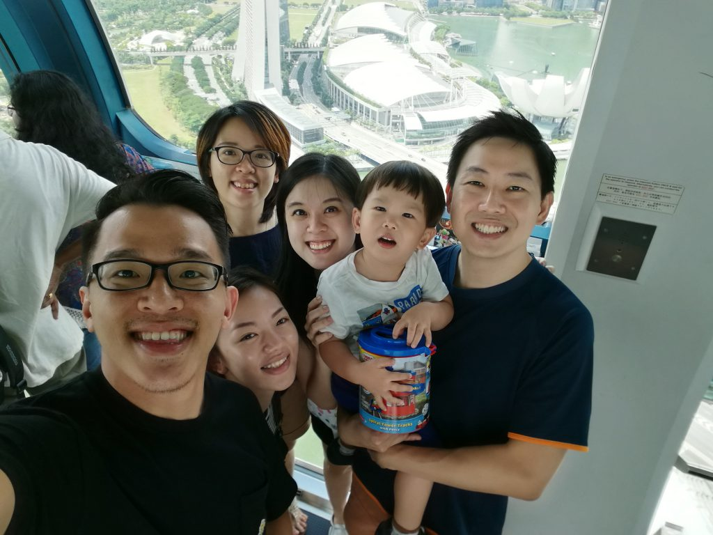Singapore Flyers with Family